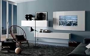 Grau Blaue Wand : wand streichen in farbpalette der wandfarbe blau freshouse ~ Watch28wear.com Haus und Dekorationen