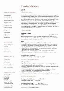cook resume sample jennywasherecom With chef resume template free