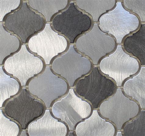 arabesque backsplash tile uptown brushed aluminum arabesque mosaic tiles rocky