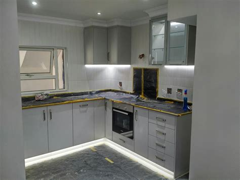 Grey Cupboards Kitchen by Folkstone Grey Modern Kitchen Creative Woodworx