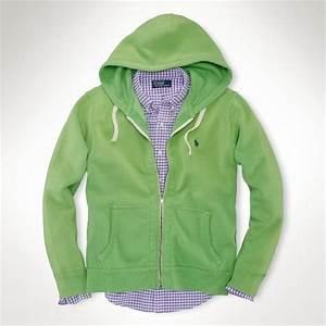 Polo Ralph Lauren Fleece Full Zip Hoo in Green for Men