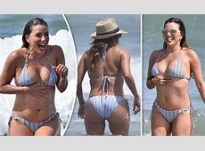 Eva Longoria, 42, nearly SPILLS OUT of tiny bikini as she