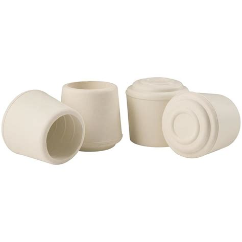shop waxman 4 pack 7 8 in in white rubber tips at lowes