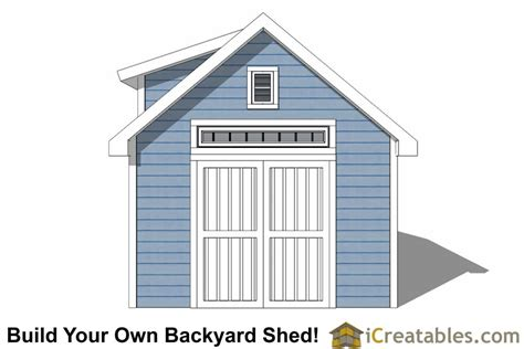10x14 Shed Plans With Loft by 10x14 Shed Plans With Dormer Icreatables
