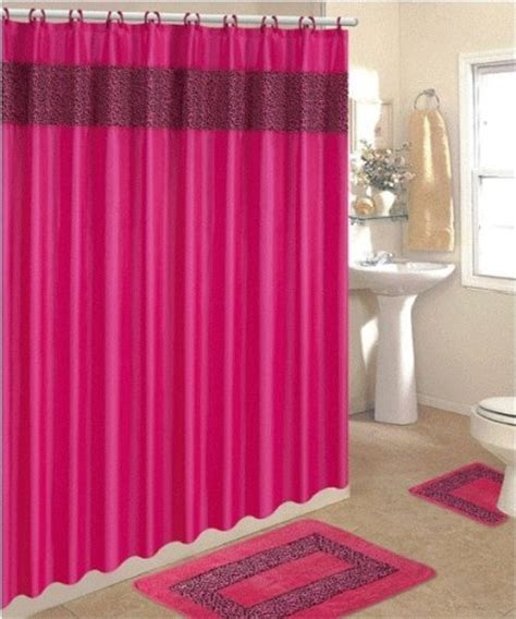 pink cheetah bathroom set 17 best images about shower curtains shower curtain