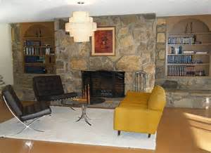 Living Room Layout With Fireplace by Maribeth S 21st Century Brady Bunch Ranch House Retro