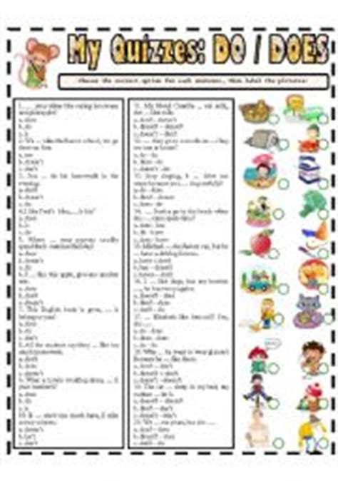 dodoes worksheets