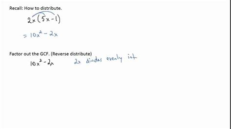 Writing A Polynomial In Descending Order & Factoring Out The Greatest Common Factor Youtube
