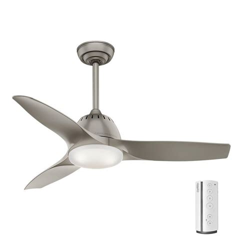 casablanca ceiling fans home depot casablanca wisp 44 in led indoor pewter ceiling fan 59150
