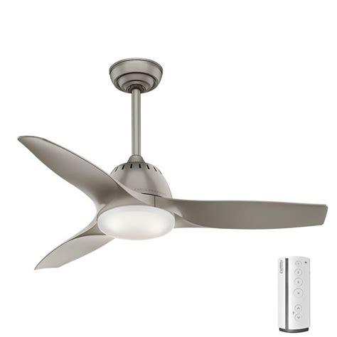 modern ceiling fans home depot casablanca wisp 44 in led indoor pewter ceiling fan 59150