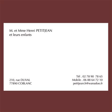 carte de visite personnelle classique grand format 82 x - Modèle Carte De Visite Personnelle Classique