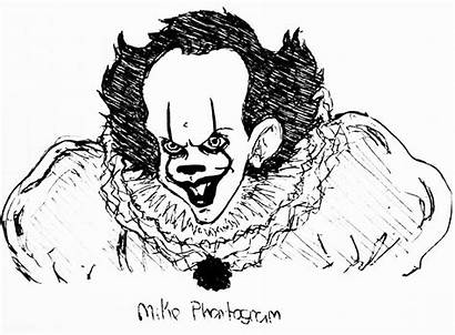 Clown Pennywise Drawing Kleurplaat Killer Dancing Deviantart