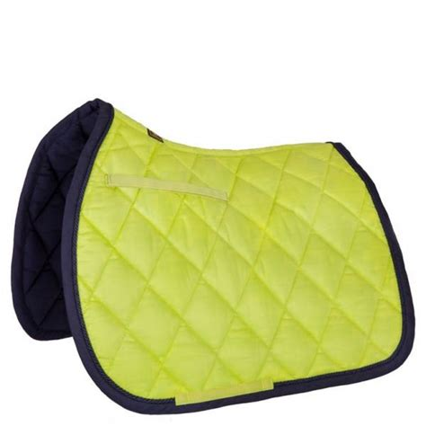 tapis de selle br event jaune citron vert mixte sellerie