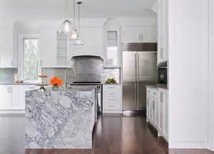 marble kitchen islands waterfall marble kitchen island contemporary kitchen