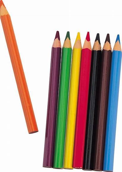 Pencil Pencils Clipart Crayon Transparent Colored Colorful