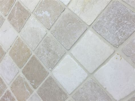 Marble Mosaic Tile by Botticino Beige Classic Tumbled Marble Mosaic Tiles 4x4