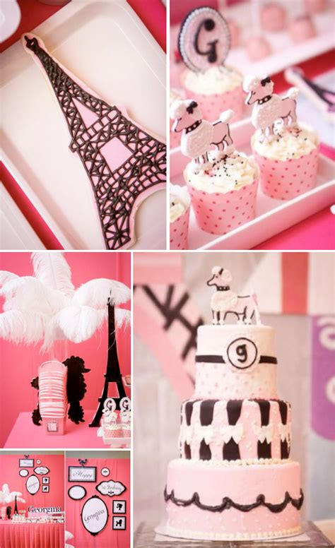 Kara's Party Ideas Poodle In Paris French Girl Pink 1st