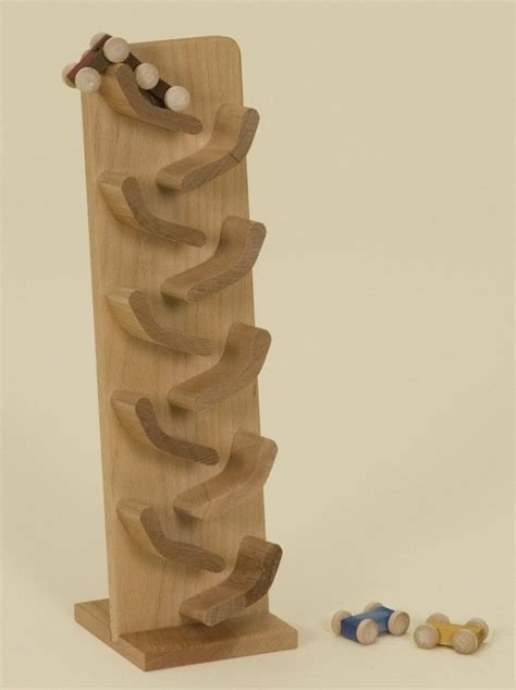 flip car roller track classic amish handmade wood toy