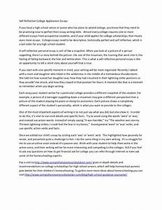 self reflective college application essays With college essay