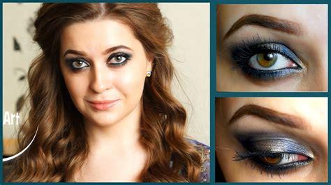 Легкий вечерний макияж для карих глаз YouTube