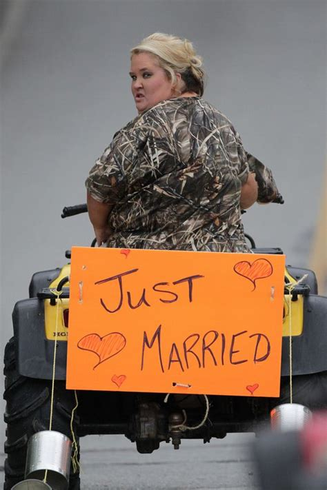 mama june  married   camouflage wedding dress