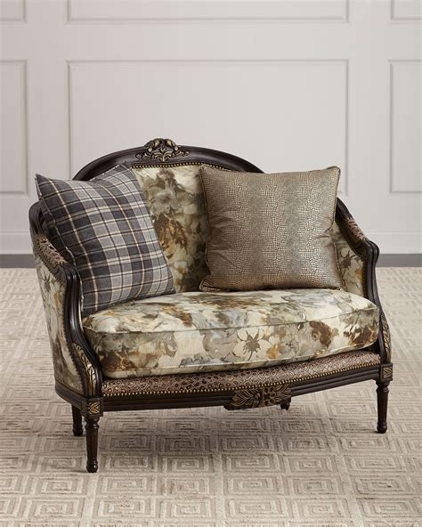 Floral Settee by Massoud Floral Settee Neiman