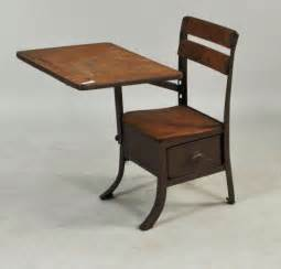 Child's Wood School Desk