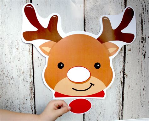 instant  christmas pin  nose