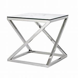 modern 50x50cm square coffee table giulien steel and glass With 50 x 50 square coffee table
