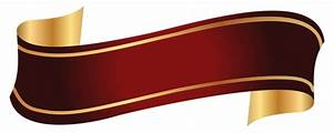 Red and Gold Banner PNG Clipart Image | Gallery ...