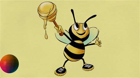 draw cartoon honey bee youtube