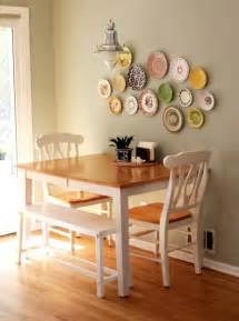 table against the wall two chairs one bench seat seating for four without paying much and