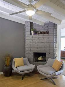 15 Gorgeous Painted Brick Fireplaces | HGTV's Decorating ...