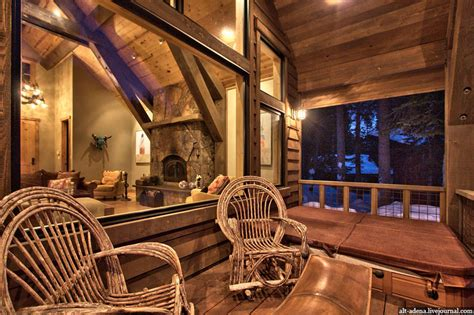 Camo Living Room Ideas by Mountain Style Home Decorated In Rustic Style