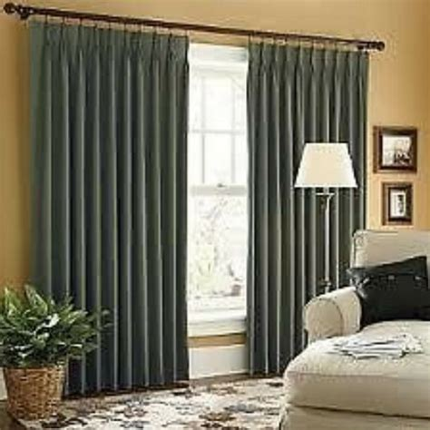 Jcpenney Drapes Thermal - jcp linden pinch pleat thermal twill curtains pr ebay