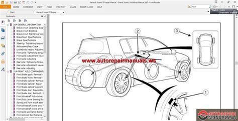 renault scenic ii repair manual grand scenic workshop