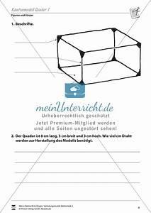 Geometrische Formen Berechnen : figuren und k rper quader beschriften und berechnen meinunterricht ~ Themetempest.com Abrechnung