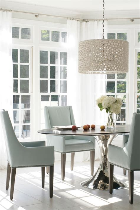 Meri Drum Chandelier   Transitional   dining room