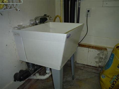 Sink In Garage by Drain For New Utility Sink In Garage Doityourself