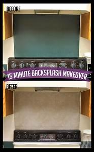 15 Minute Kitchen Backsplash Makeover