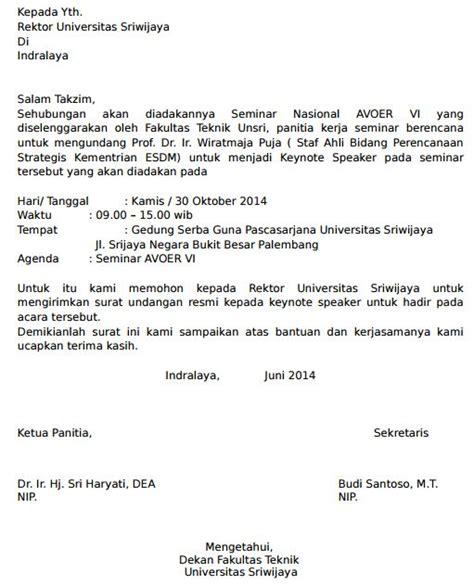 Contoh Format Surat Untuk Meminta Sponsor by Contoh Permohonan Surat Pembicara Seminar Keynote Nasional