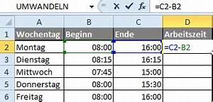 Zeitraum Berechnen Excel : zeiteinheiten umrechnen in excel ~ Themetempest.com Abrechnung