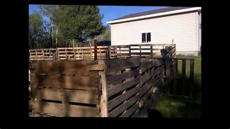 build  pallet fence youtube