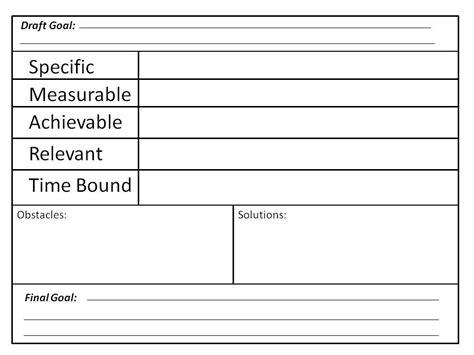pin smart goal worksheet doc on