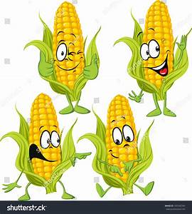 Sweet Corn Cartoon Hands Stock Vector 195546764 - Shutterstock