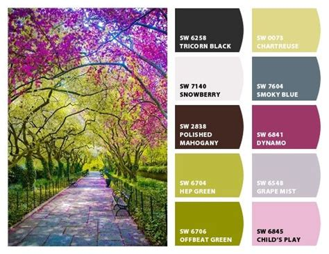 spring in central park nyc paint colors from chip it by