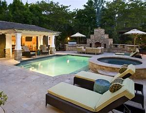 backyard designs with pool and outdoor kitchen With backyard designs with pool and outdoor kitchen