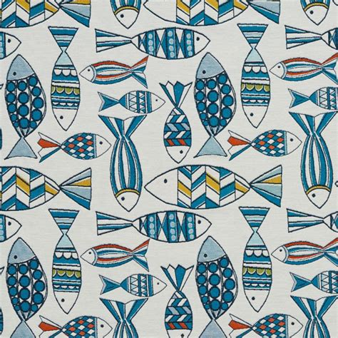 Fish Upholstery Fabric by Ci9000 10 Aqua Fish Pattern Fabric Farmington Fabrics