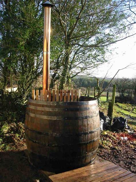 vat tub large oak vat turned into tub wood garden tub tub
