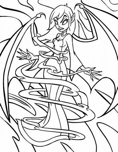 Coloring Pages Scary Evil Vampire Colouring Adults